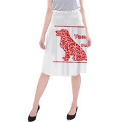 Year Of The Dog   Chinese New Year Midi Beach Skirt