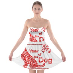 Year Of The Dog   Chinese New Year Strapless Bra Top Dress