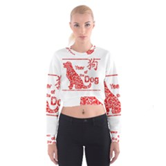 Year Of The Dog   Chinese New Year Cropped Sweatshirt