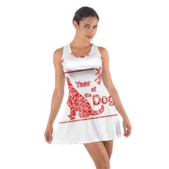 Year Of The Dog   Chinese New Year Cotton Racerback Dress