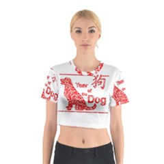 Year Of The Dog   Chinese New Year Cotton Crop Top