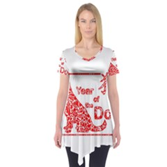 Year Of The Dog   Chinese New Year Short Sleeve Tunic