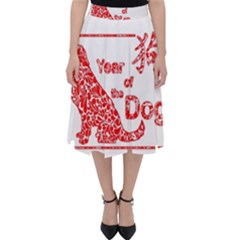 Year Of The Dog   Chinese New Year Folding Skater Skirt