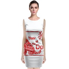 Year Of The Dog   Chinese New Year Classic Sleeveless Midi Dress