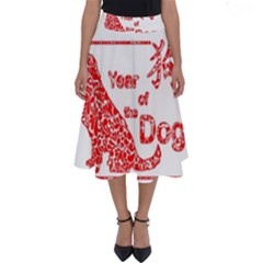 Year Of The Dog   Chinese New Year Perfect Length Midi Skirt