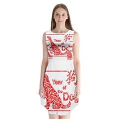 Year Of The Dog   Chinese New Year Sleeveless Chiffon Dress