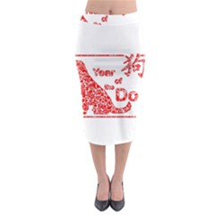 Year Of The Dog   Chinese New Year Midi Pencil Skirt