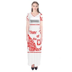 Year Of The Dog   Chinese New Year Short Sleeve Maxi Dress