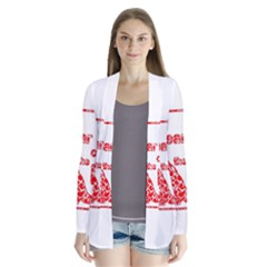 Year Of The Dog   Chinese New Year Drape Collar Cardigan
