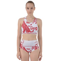 Year Of The Dog   Chinese New Year Racer Back Bikini Set