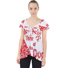 Year Of The Dog   Chinese New Year Lace Front Dolly Top