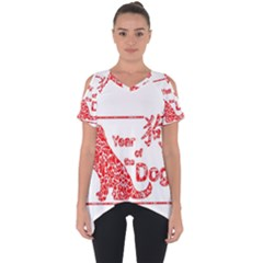 Year Of The Dog   Chinese New Year Cut Out Side Drop Tee