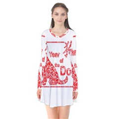 Year Of The Dog   Chinese New Year Flare Dress