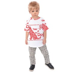 Year Of The Dog   Chinese New Year Kids Raglan Tee