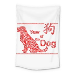 Year Of The Dog   Chinese New Year Small Tapestry