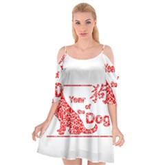 Year Of The Dog   Chinese New Year Cutout Spaghetti Strap Chiffon Dress