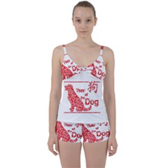 Year Of The Dog   Chinese New Year Tie Front Two Piece Tankini