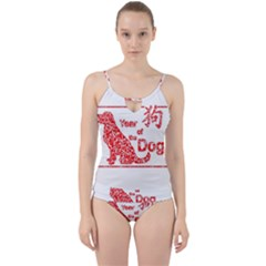 Year Of The Dog   Chinese New Year Cut Out Top Tankini Set