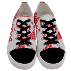 Year Of The Dog   Chinese New Year Men s Low Top Canvas Sneakers