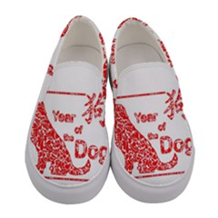 Year Of The Dog   Chinese New Year Women s Canvas Slip Ons