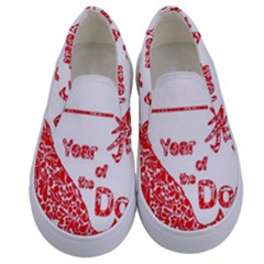 Year Of The Dog   Chinese New Year Kids  Canvas Slip Ons