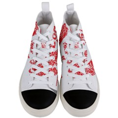 Year Of The Dog   Chinese New Year Men s Mid Top Canvas Sneakers