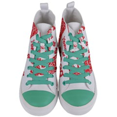 Year Of The Dog   Chinese New Year Women s Mid Top Canvas Sneakers
