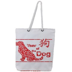Year Of The Dog   Chinese New Year Full Print Rope Handle Tote (large)