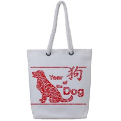 Year Of The Dog   Chinese New Year Full Print Rope Handle Tote (small)