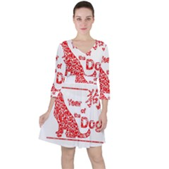 Year Of The Dog   Chinese New Year Ruffle Dress