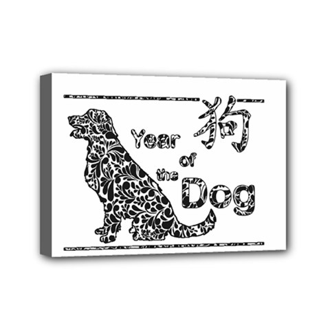 Year Of The Dog   Chinese New Year Mini Canvas 7  X 5