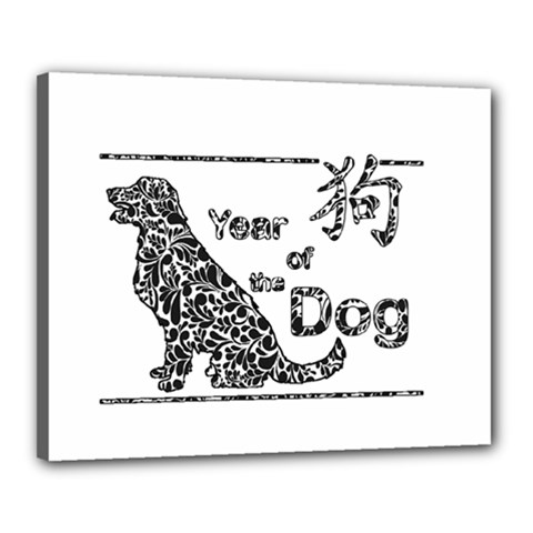 Year Of The Dog   Chinese New Year Canvas 20  X 16