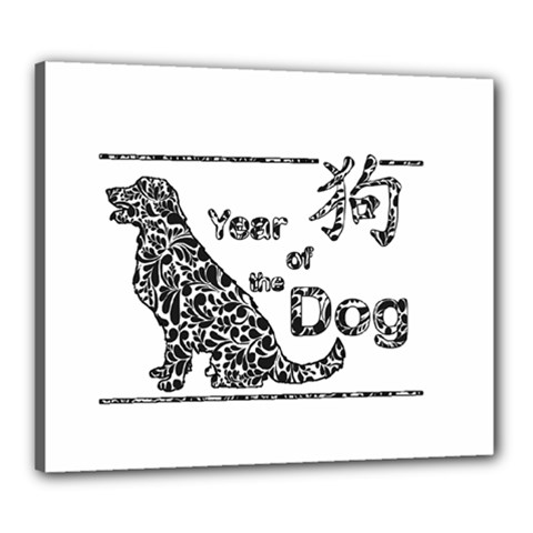 Year Of The Dog   Chinese New Year Canvas 24  X 20