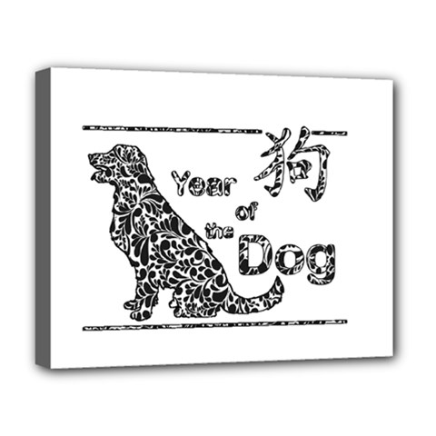 Year Of The Dog   Chinese New Year Deluxe Canvas 20  X 16