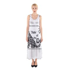 Year Of The Dog   Chinese New Year Sleeveless Maxi Dress