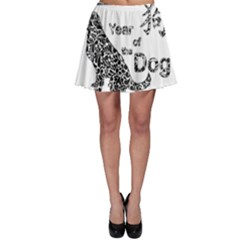 Year Of The Dog   Chinese New Year Skater Skirt