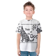 Year Of The Dog   Chinese New Year Kids  Cotton Tee