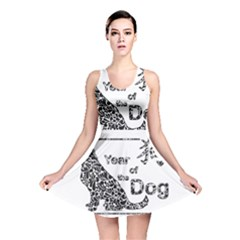 Year Of The Dog   Chinese New Year Reversible Skater Dress