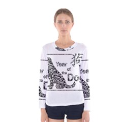 Year Of The Dog   Chinese New Year Women s Long Sleeve Tee