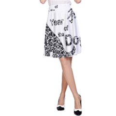 Year Of The Dog   Chinese New Year A Line Skirt