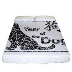 Year Of The Dog   Chinese New Year Fitted Sheet (queen Size)