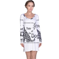 Year Of The Dog   Chinese New Year Long Sleeve Nightdress