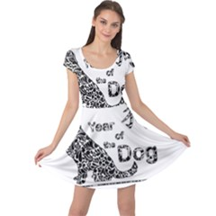 Year Of The Dog   Chinese New Year Cap Sleeve Dress