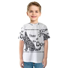 Year Of The Dog   Chinese New Year Kids  Sport Mesh Tee