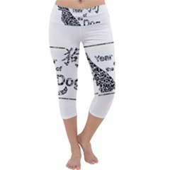 Year Of The Dog   Chinese New Year Capri Yoga Leggings