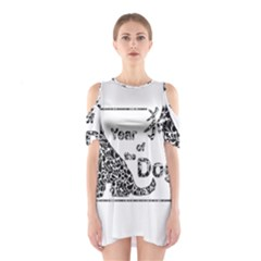 Year Of The Dog   Chinese New Year Shoulder Cutout One Piece