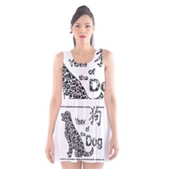 Year Of The Dog   Chinese New Year Scoop Neck Skater Dress