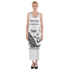 Year Of The Dog   Chinese New Year Fitted Maxi Dress