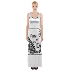 Year Of The Dog   Chinese New Year Maxi Thigh Split Dress