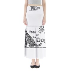 Year Of The Dog   Chinese New Year Full Length Maxi Skirt